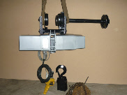 King 1 Tonne Hoist and Dolly Trolley - Duotek Surplus Machinery